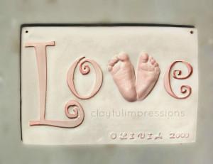 ... footprints # love footprints # ceramic hand and footprints # etsy baby