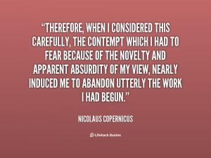 Nicolaus Copernicus Quotes
