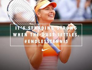 Maria Sharapova Roland Garros 2014 Champion #niketennis #endlesstennis