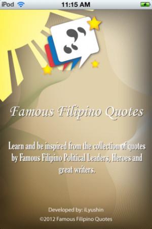Tagalog Quotes http://appfinder.lisisoft.com/app/famous-filipino ...