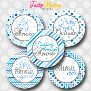 INSTANT DOWNLOAD Cute Winter Snowflake Sayings Inspired 4x6 Digital 1 ...