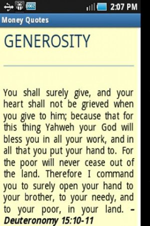 Money Quotes from Bible Verses - screenshot