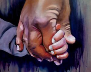 Father's Day art, Holding Hands , Grandpa and Grandson, Grandchild ...