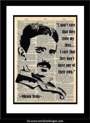 Quotes by nikola tesla