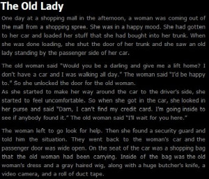 creepy short stories this is a short story in a
