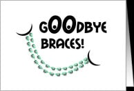 Congratulations Braces Off - Goodbye Braces Smile card - Product ...