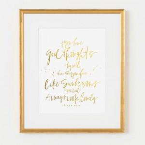 ... frame on Etsy, $87.00: Gold Frames, Gold Foil, Dahl Quotes, Black