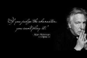 WALLPAPER: Alan Rickman quote on acting with photo