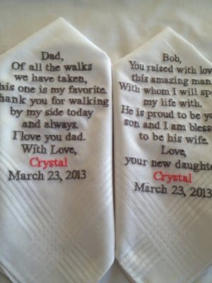 ... Father of the Bride Father of the groom Gifts Hankerchief - Hankies