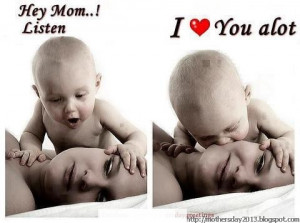 Hey Mom Listen I Love you a lot best Picture as a Mothers day Funny ...