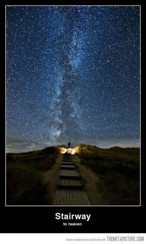 beautiful stars sky stairway heaven / Funny Pictures, Funny Images ...