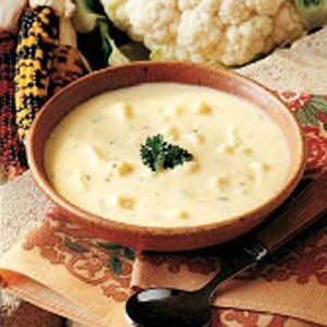 Cauliflower Cheddar Soup Recipe photo by Taste of Home