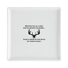 Funny Uncle sayings and quotes Square Cocktail Plate