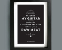 Guitar quote, Wes Montgomery Jazz quote, Typography poster, I never ...