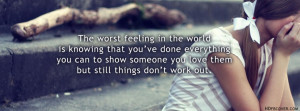 Worst Feeling Ever quotes,a girl crying fb cover photos