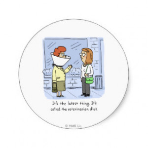 Shoebox Veterinarian Diet Classic Round Sticker