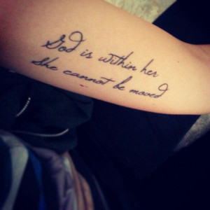 Love love love my ink ♥ #psalm #psalm46:5 #tattoo #bible #verse # ...
