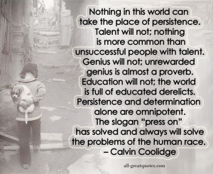 Calvin Coolidge Persistence Quote