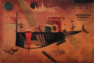 Painter Wassily Kandinsky. Painting. Capricious. 1930 year