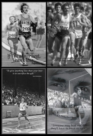 Running Quotes Prefontaine Steve prefontaine quad poster