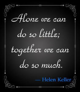 Famous quote about unity by Helen Keller