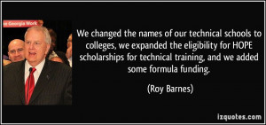 of our technical schools to colleges, we expanded the eligibility ...
