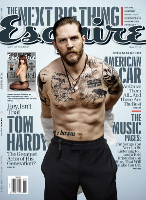 Tom Hardy in the May 2014 issue of GQ Magazine.