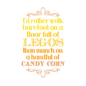 Yep – that 'bout sums up my opinion of candy corn!