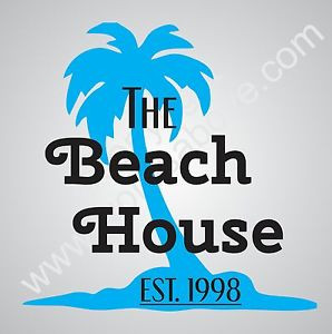 ... -HOUSE-Vinyl-Wall-Quote-Word-Decal-Palm-Tree-Home-Decor-Lake-Family