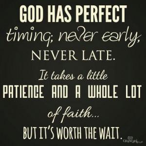 On God's Time & Faith
