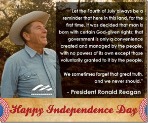 Reagan Quote For Independence Day