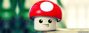 Mushroom Smiley Facebook Cover