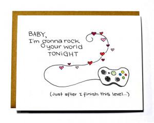 Geeky Gamer card - Xbox card, Mature, I love you card