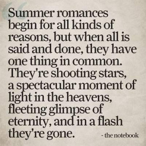 Summer love quotes from the notebook