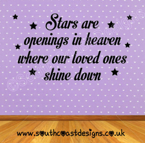 Stars Are Openings In Heaven Where Our Loved Ones Shine Down