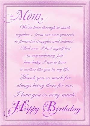Birthday Card for Mom by JTeddy71