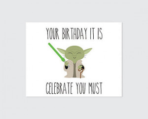 Funny Star Wars Birthday Card Star wars birthday card