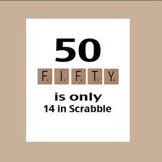 50th Birthday Card, Milestone Birthday, Scrabble Birthday Card, The ...