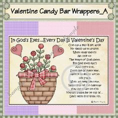 Christian Valentine Party Ideas | Candy Bar Poems For Valentines Day