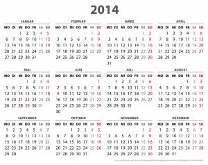 2014 Calendars Multiple Languages & Designs