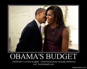 Demotivational Obama Budget