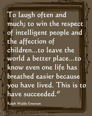 Ralph Waldo Emerson, Inspirational Quote, Poetry, Succeeding ...