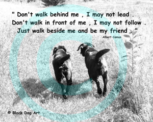 Labrador friends quote print