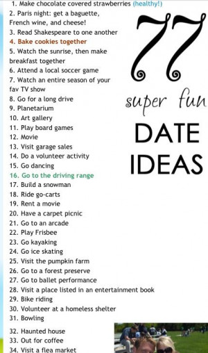 Cute Date Ideas Tumblr Cute date ideas i like 1, 4,