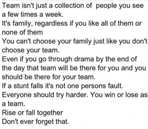 team is family