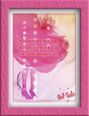 girl rule quote