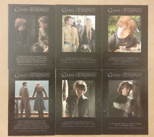 ... about Quotable Quotes Lot x6 Insert - Game of Thrones Season 4 Cards