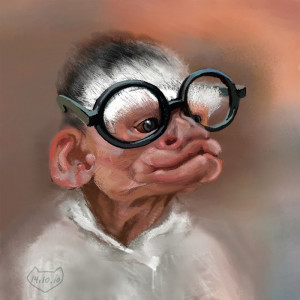 Funny Monkeys With Glasses (17)