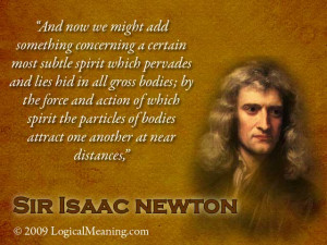 Sir Isaac Newton Mastermind quote