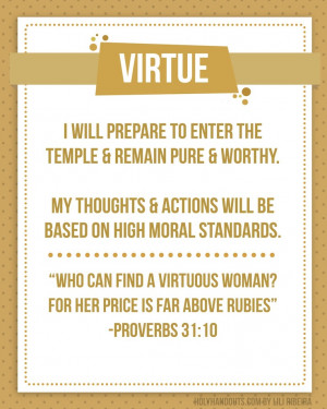 young women values VIRTUE